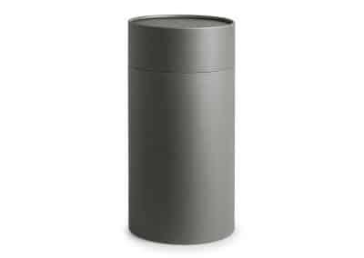 Mikado urne fremstillet i grå karton